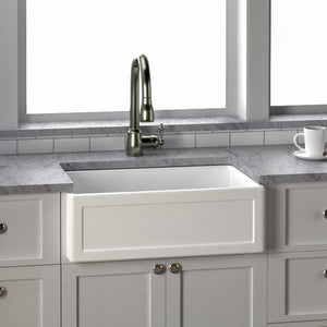 "30"" Elmont Fireclay Frame-Style Single-Bowl Farmhouse Sink"