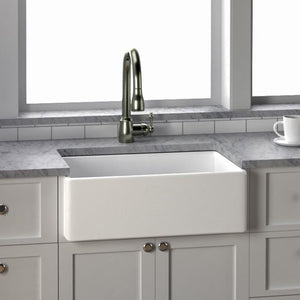 "30"" Elmont Fireclay Smooth Single-Bowl Farmhouse Sink"