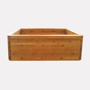 "30"" Guin Bamboo Smooth Apron Single-Bowl Farmhouse Sink"