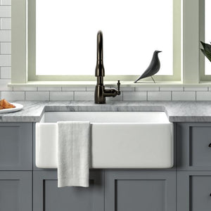 "30"" Linden Fireclay Single-Bowl Farmhouse Sink"