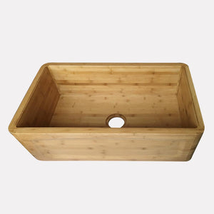 "30"" Ovett Bamboo Arched Frame-Style Apron Single-Bowl Farmhouse Sink"