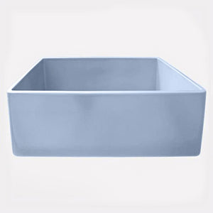 "30"" Ruston Handcrafted Single-Bowl Smooth Apron Farmhouse Sink - Baby Blue"