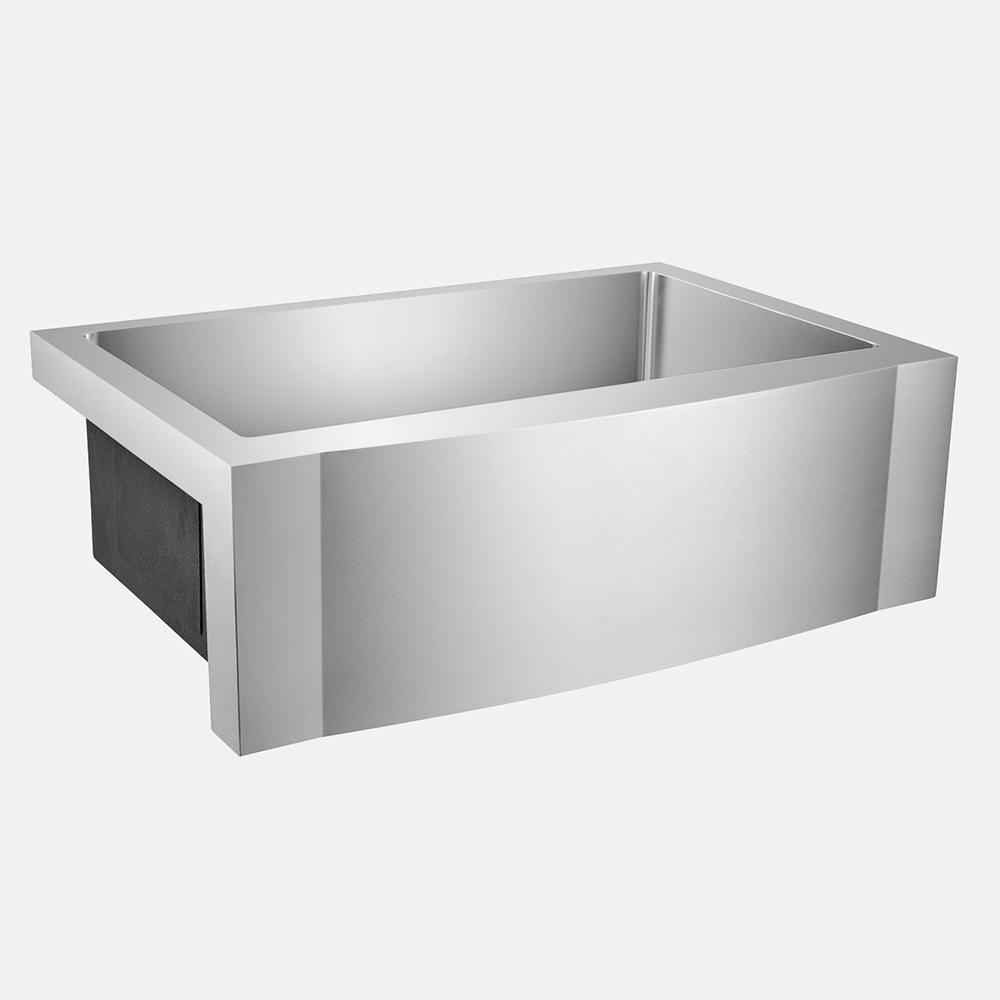 30 Vaiden Stainless Steel Single Bowl Farmhouse Sink Rippled Apron Magnus Home Products