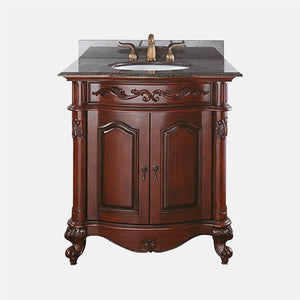 "31"" Deary Vanity Cabinet for Oval Undermount Sink - Antique Cherry"
