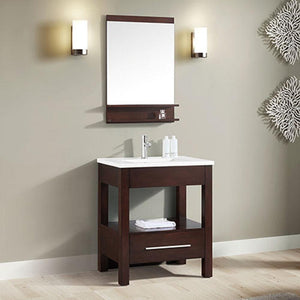 "31"" Lostine Vanity Cabinet with Integral Vitreous China Top"