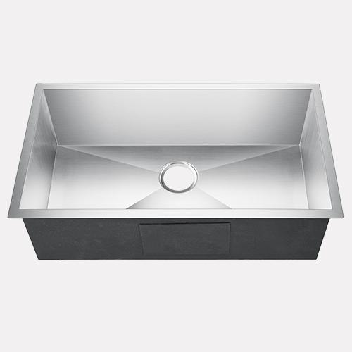 "32"" Amsco Stainless Steel Single-Bowl Undermount Sink"