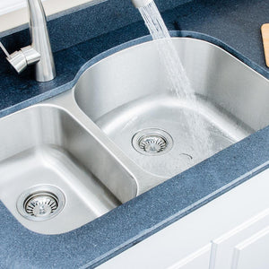 "32"" Errol Stainless Steel Double-Bowl Undermount Sink"