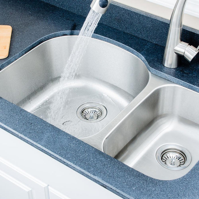 "32"" Keough Stainless Steel Double-Bowl Undermount Sink"