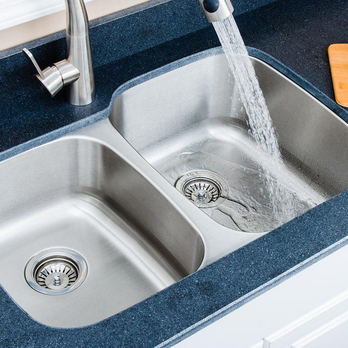 "32"" Langdon Stainless Steel Double-Bowl Undermount Sink"