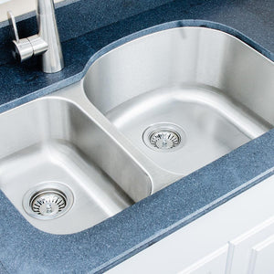 "32"" Nashua Stainless Steel Double-Bowl Undermount Sink"