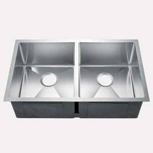 "32"" Wigston Stainless Steel Double-Bowl Undermount Sink"