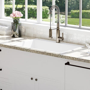 "33"" Blythe Granite Composite Sink - Pure White"