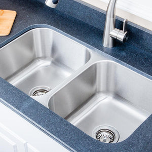 "33"" Milo Stainless Steel Double-Bowl Undermount Sink"