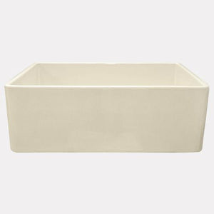 "33"" Ruston Handcrafted Single-Bowl Smooth Apron Farmhouse Sink - Wheat"