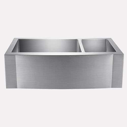 33 Sterrett Stainless Steel 70 30 Offset Double Bowl Farmhouse Sink Magnus Home Products