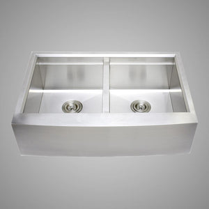 "33"" Tolland Stainless Steel Double-Bowl Farmhouse Sink with Colander and Cutting Board"