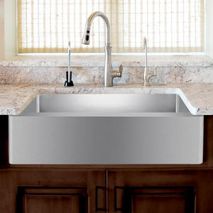 "33"" Vance Stainless Steel Single-Bowl Farmhouse Sink"