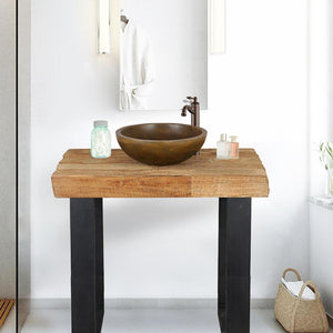 "35"" Bentonia Recycled Wood Vanity for Vessel Sink - Rustic Finish"