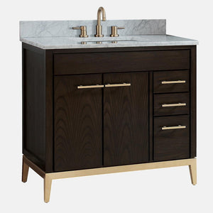 "36"" Forney Vanity for Rectangular Undermount Sink - Dark Chocolate"