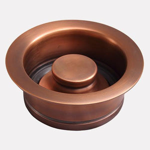 "36"" Oswego Hammered Copper Double-Bowl Undermount Sink"