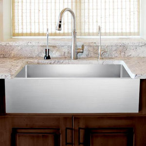 "36"" Panola Stainless Steel Single-Bowl Farmhouse Sink"