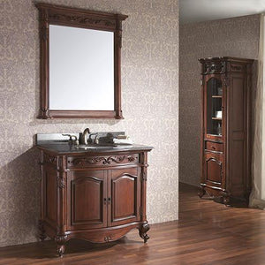 "37"" Deary Vanity Cabinet for Oval Undermount Sink - Antique Cherry"