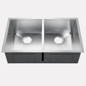 "37"" Fradley Stainless Steel Double-Bowl Undermount Sink"