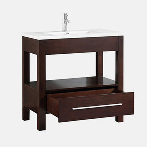 "37"" Lostine Vanity Cabinet with Integral Vitreous China Top"