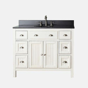 "42"" Ronan Vanity Cabinet for Oval Undermount Sink - French White"