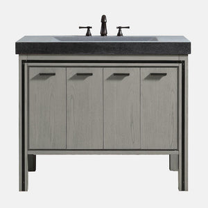 "43"" Minam Vanity Cabinet for Integral Stone Top - Rustic Gray"