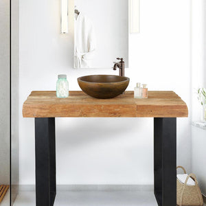 "47"" Bentonia Recycled Teak Wood Vanity for Vessel Sink - Rustic Finish"