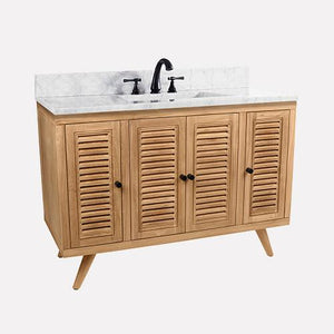 "48"" Compton Teak Vanity Cabinet for Rectangular Undermount Sink - Natural Teak"