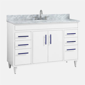 "48"" Leadore Vanity Cabinet for Oval Undermount Sink - White"