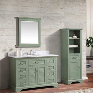 "48"" Lostine Vanity Cabinet for Oval Undermount Sink - Basil Green"