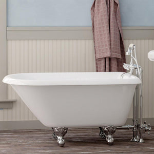 "48"" Macon Cast Iron Roll-Top Clawfoot Tub"