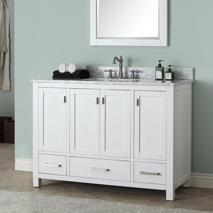 "48"" Noxon Vanity for Rectangular Undermount Sink - White"