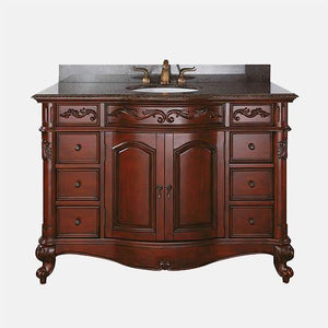 "49"" Deary Vanity Cabinet for Oval Undermount Sink - Antique Cherry"