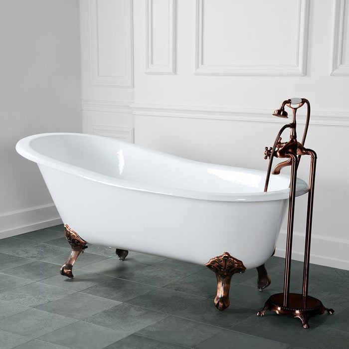 "54"" Henderson Cast Iron Slipper Clawfoot Tub"