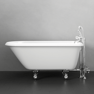 "54"" Jennings Cast Iron Roll-Top Clawfoot Tub"