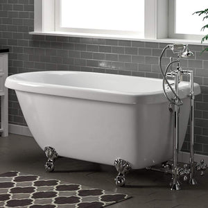 "54"" Kimberton Acrylic Roll-Top Clawfoot Tub"