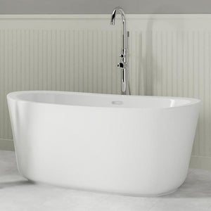 "55"" Exton Acrylic Freestanding Tub with Integral Drain"
