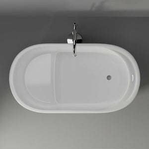 "55"" Paoli Acrylic Oval Freestanding Tub with Integral Drain"