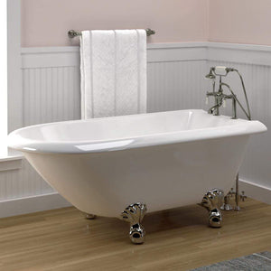 "59"" Ambler Acrylic Roll-Top Clawfoot Tub"