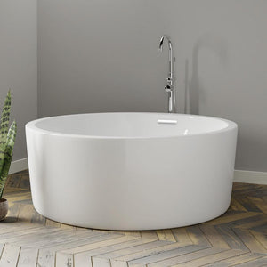 "59"" Anderson Acrylic Round Soaking Freestanding Tub with Integral Drain"