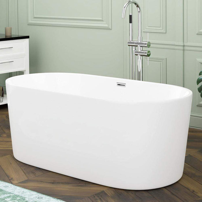 "59"" Hermon Acrylic Oval Freestanding Tub With Insulation"