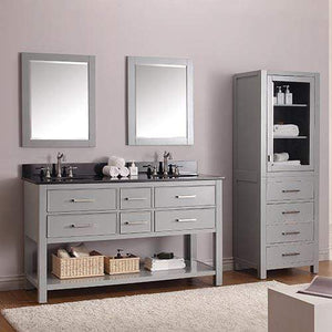 "60"" Brockton Double Vanity for Oval Undermount Sinks"