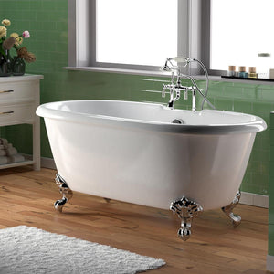 "60"" Ellington Cast Iron Double-Ended  Clawfoot Tub"