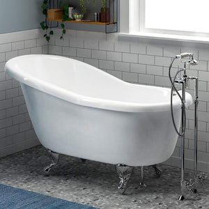 "60"" Newport Acrylic Slipper Clawfoot Tub - White"