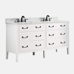 "60"" Scobey Double Vanity for Rectangular Undermount Sinks"