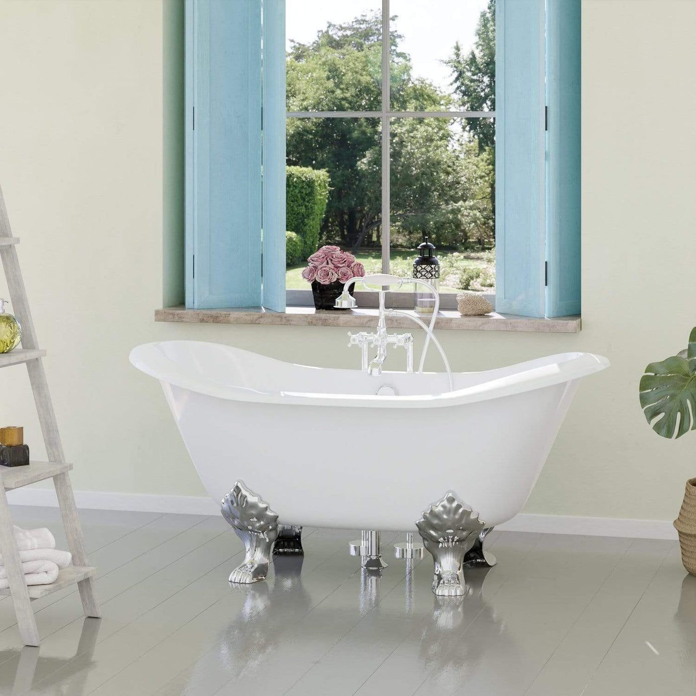 Picture of: 61 Beasley Cast Iron Double Slipper Clawfoot Tub Magnus Home Products